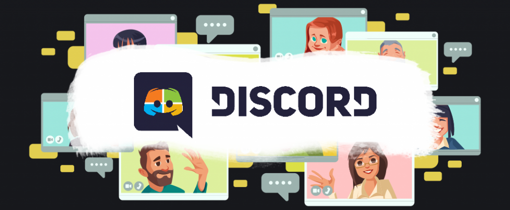 Discord logo with nice background